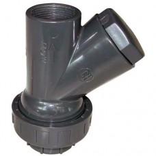 """Възвратен клапан за мръсна вода 1 1/2"""" FF PVC"""